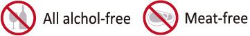 Alll alchol-free Meat-free